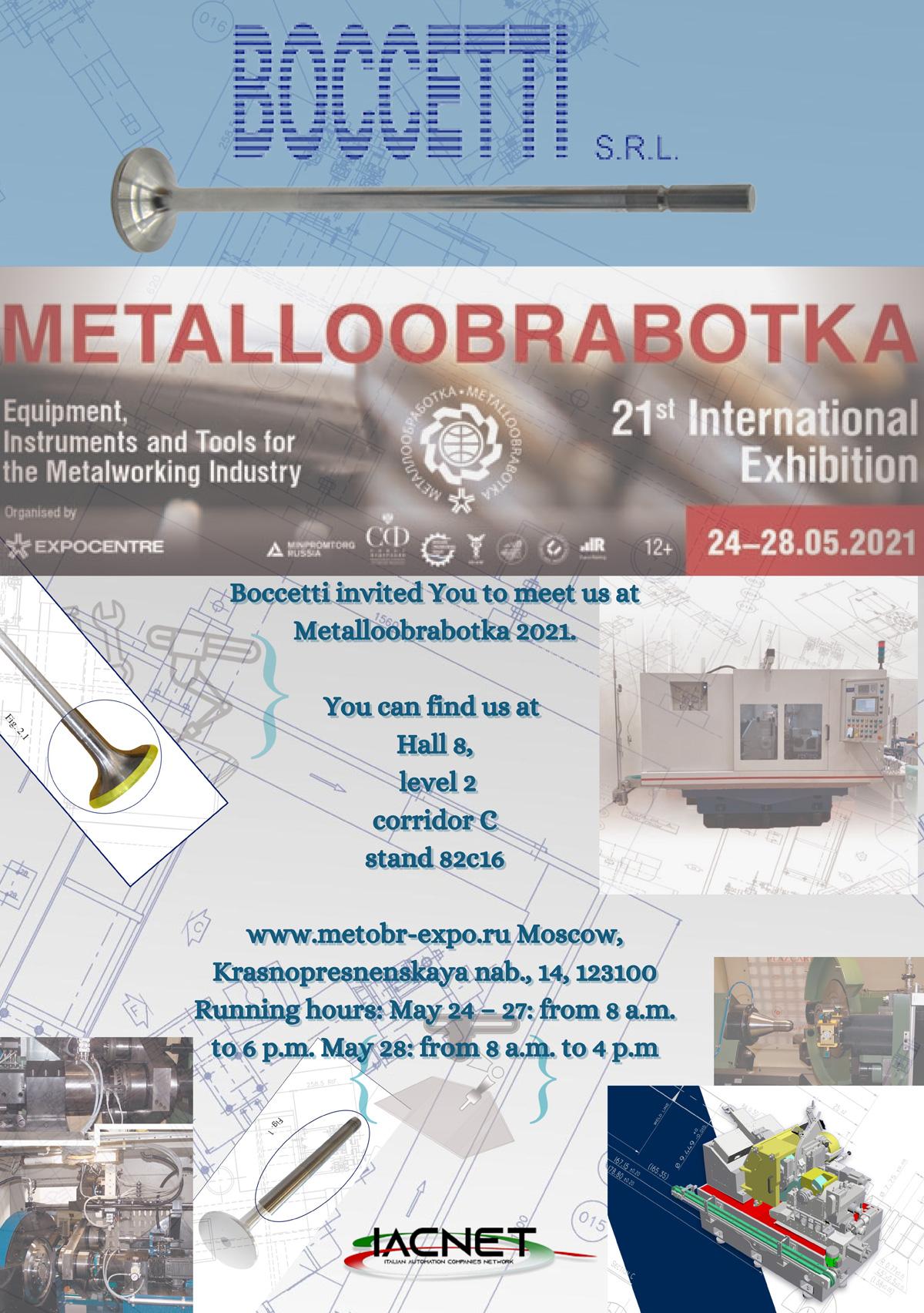 24 - 28 Maggio | Metalloobrabotka 2021